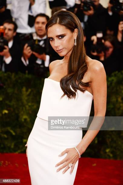 Victoria Beckham attends the 'Charles James Beyond Fashion' Costume Institute Gala at the Metropolitan Museum of Art on May 5 2014 in New York City