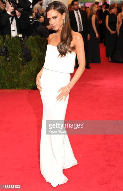 Victoria Beckham attends the Charles James Beyond Fashion Costume Institute Gala at the Metropolitan Museum of Art on May 5 2014 in New York City