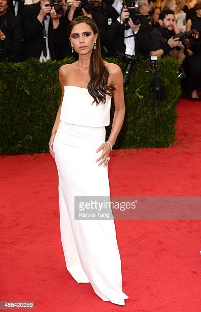 Victoria Beckham attends the Charles James Beyond Fashion Costume Institute Gala held at the Metropolitan Museum of Art on May 5 2014 in New York City