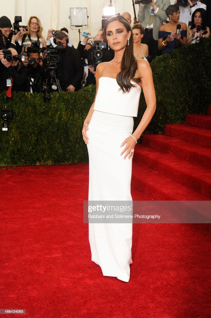 Victoria Beckham attends the 'Charles James: Beyond Fashion' Costume Institute Gala at the Metropolitan Museum of Art on May 5, 2014 in New York City.
