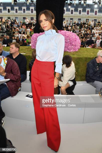 Victoria Beckham attends the Dior Homme Menswear Spring/Summer 2019 show as part of Paris Fashion Week Week on June 23 2018 in Paris France