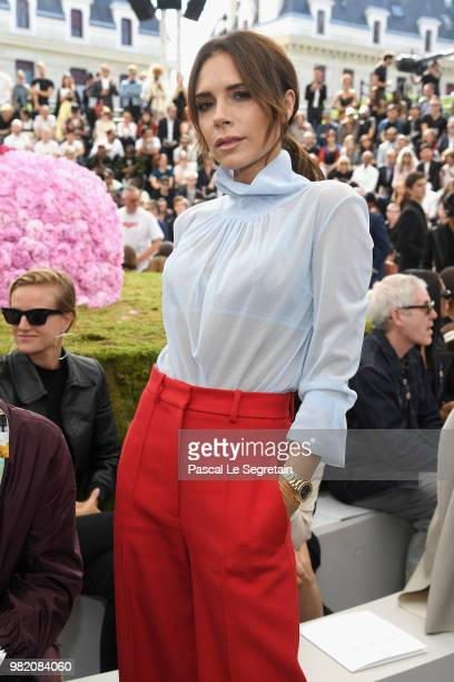 Victoria Beckham attends the Dior Homme Menswear Spring/Summer 2019 show as part of Paris Fashion Week on June 23 2018 in Paris France