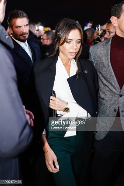 Victoria Beckham attends the Dior show, during Paris Fashion Week - Menswear F/W 2020-2021, on January 17, 2020 in Paris, France.