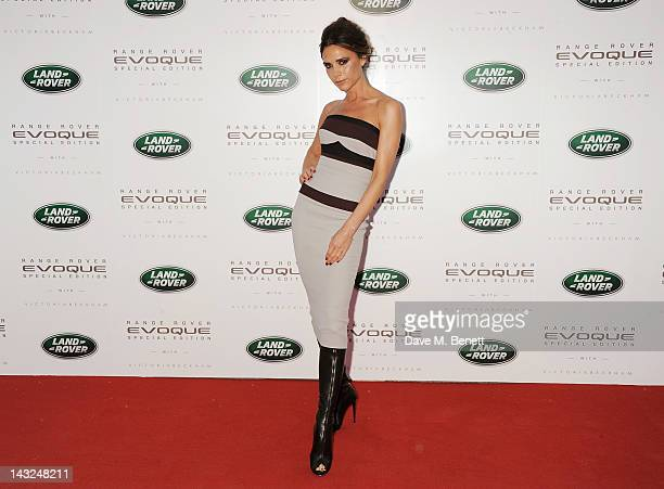 Victoria Beckham attends the Evening Reveal as Land Rover launch the Range Rover Evoque Special Edition with Victoria Beckham at the Central Academy...