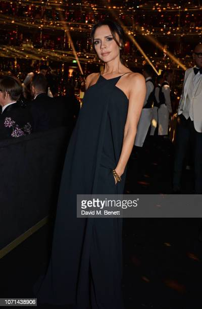 Victoria Beckham attends The Fashion Awards 2018 in partnership with Swarovski at the Royal Albert Hall on December 10, 2018 in London, England.