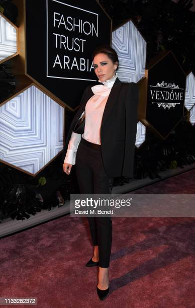 Victoria Beckham attends the Fashion Trust Arabia Prize awards ceremony on March 28 2019 in Doha Qatar