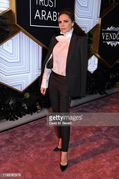 Victoria Beckham attends the Fashion Trust Arabia Prize awards ceremony on March 28, 2019 in Doha, Qatar.