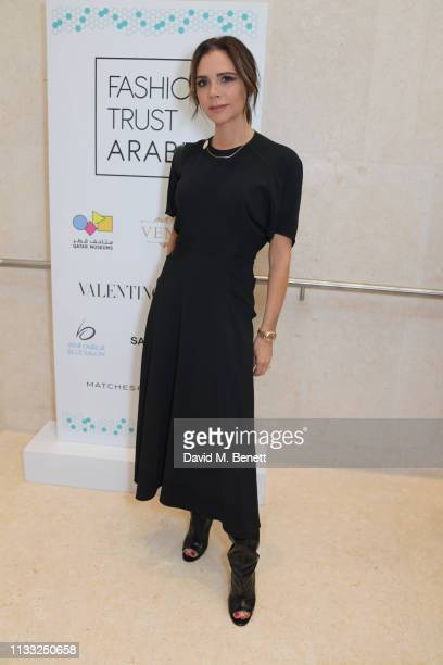 Victoria Beckham attends the Fashion Trust Arabia Prize Judging Day on March 28 2019 in Doha Qatar