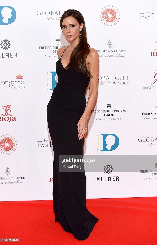 Victoria Beckham attends The Global Gift Gala at Four Seasons Hotel on November 30, 2015 in London, England.