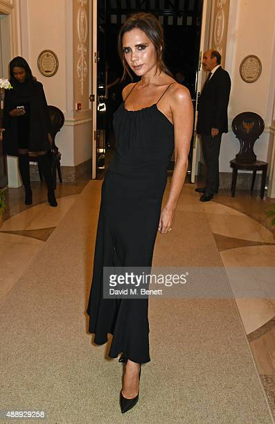 Victoria Beckham attends the London Fashion Week party hosted by Ambassador Matthew Barzun and Mrs Brooke Brown Barzun with Alexandra Shulman in...