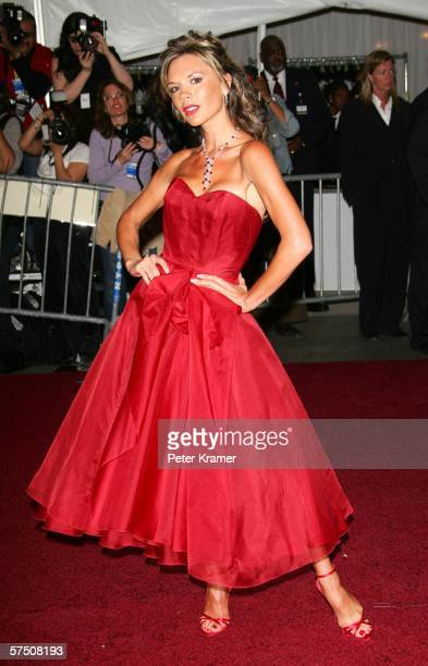 Victoria Beckham attends the Metropolitan Museum of Art Costume Institute Benefit Gala: Anglomania at the Metropolitan Museum of Art May 1, 2006 in...