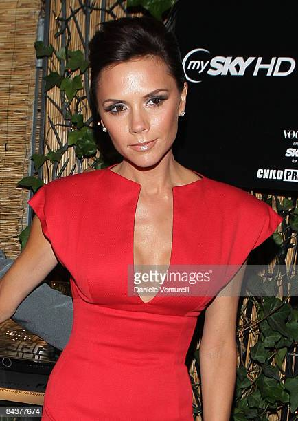 Victoria Beckham attends the My Sky HD Wears Fendi cocktail party as part of Milan Fashion Week Autumn/Winter 2009/2010 Menswear on January 20 2009...