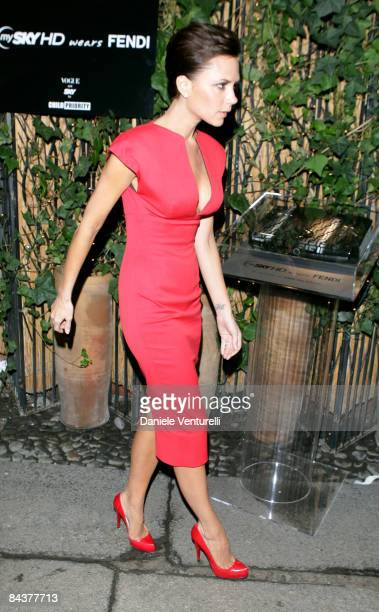 Victoria Beckham attends the 'My Sky HD Wears Fendi' cocktail party as part of Milan Fashion Week Autumn/Winter 2009/2010 Menswear on January 20 2009...