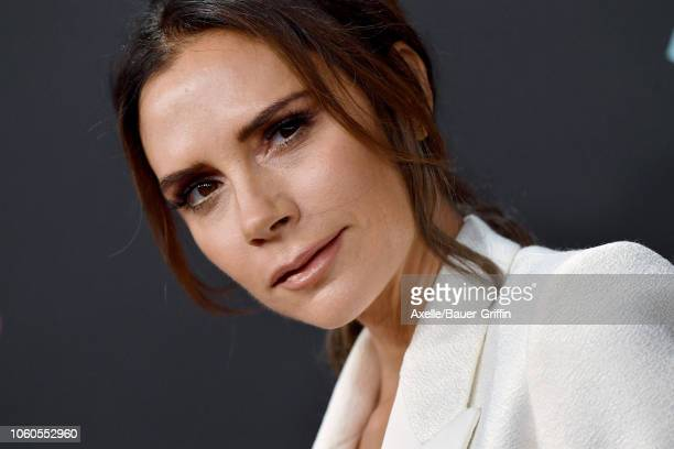 Victoria Beckham attends the People's Choice Awards 2018 at Barker Hangar on November 11, 2018 in Santa Monica, California.