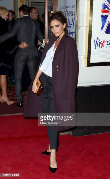 Victoria Beckham attends the press night of 'Viva Forever', a musical based on the music of The Spice Girls at Piccadilly Theatre on December 11,...