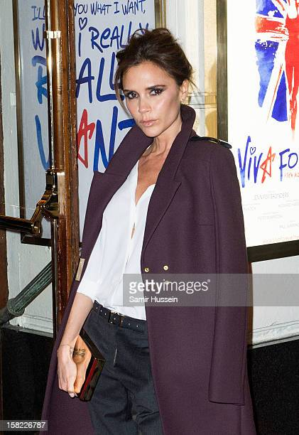 Victoria Beckham attends the press night of 'Viva Forever', a musical based on the music of The Spice Girls, at Piccadilly Theatre on December 11,...