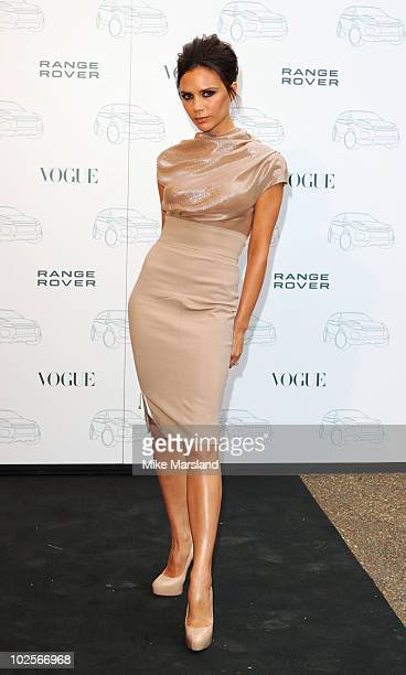 Victoria Beckham attends the Range Rover 40th Anniversary Party Hosted By Vogue at The Orangery Kensington Palace on July 1 2010 in London England