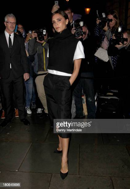 Victoria Beckham attends the Vogue party during London Fashion Week SS14 at on September 15 2013 in London England