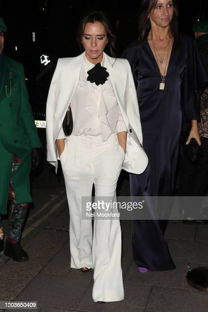 Victoria Beckham attends the Vogue x Tiffany Fashion Film after party for the EE British Academy Film Awards 2020 at Annabel's on February 02 2020 in...