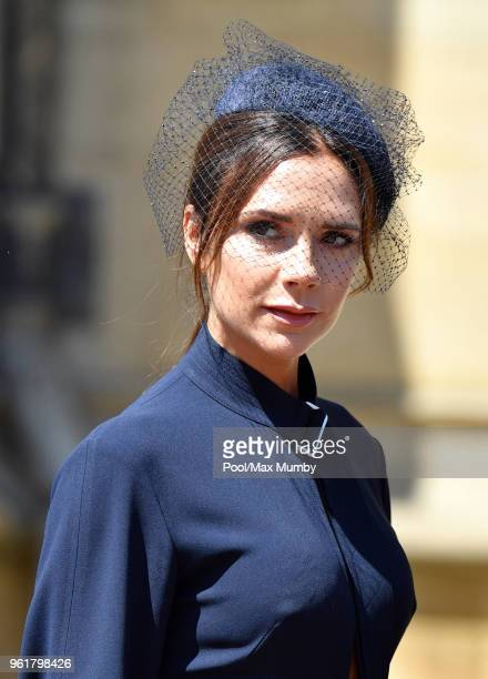 Victoria Beckham attends the wedding of Prince Harry to Ms Meghan Markle at St George's Chapel, Windsor Castle on May 19, 2018 in Windsor, England....