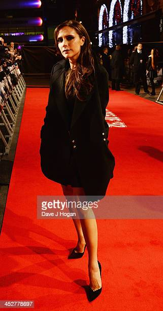 Victoria Beckham attends the World premiere of The Class of 92 at Odeon West End on December 1 2013 in London England