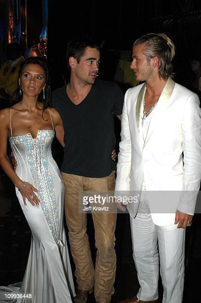 Victoria Beckham Colin Farrell and David Beckham