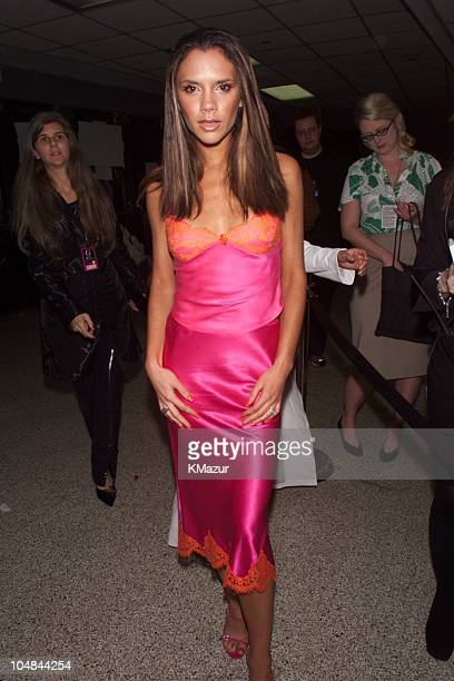 Victoria Beckham during 2000 VH1 Vogue Fashion Awards Arrivals at Madison Square Garden in New York City New York United States