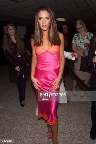 Victoria Beckham during 2000 VH1 Vogue Fashion Awards Arrivals at the Madison Square Garden in New York City New York