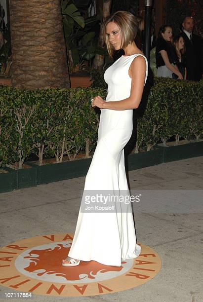 Victoria Beckham during 2007 Vanity Fair Oscar Party Hosted by Graydon Carter at Mortons in West Hollywood California United States