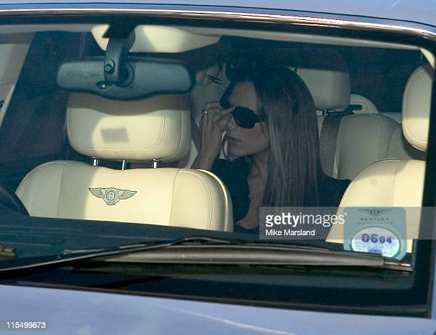 Victoria Beckham during David Beckham Receives OBE From HRH Queen Elizabeth II at Buckingham Palace in London Great Britain