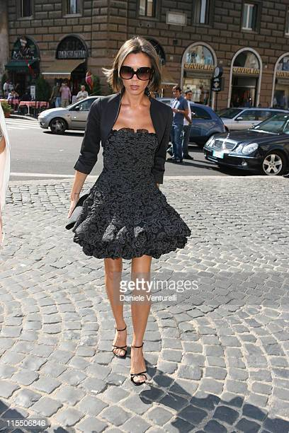 Victoria Beckham during Elle Macpherson and Arpad Busson in Rome for the Baptism of their Son Aurelius cy Andrea at Basilica Santa Maria Maggiore in...