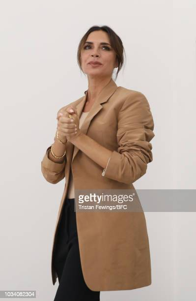 Victoria Beckham during the finale of her show during London Fashion Week on September 16 2018 in London England