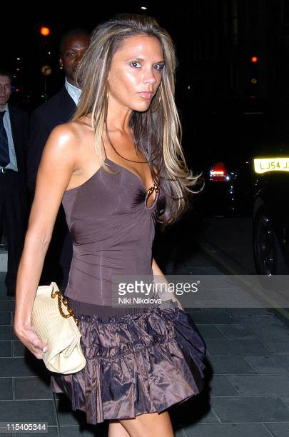 Victoria Beckham during Victoria Beckham and Roberto Cavalli Leave Cipriani - July 16, 2005 at Cipriani in London, United Kingdom.