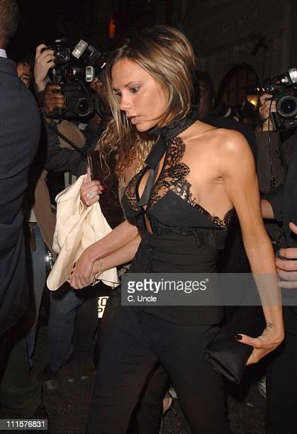 Victoria Beckham during Victoria Beckham Sighting at Nobu August 22 2006 at Nobu in London Great Britain