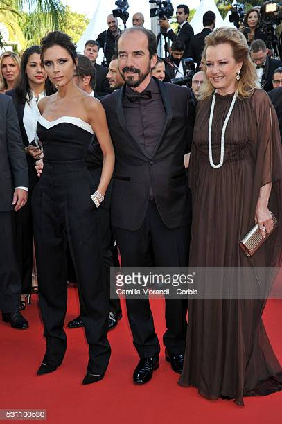Victoria Beckham Alexis Veller and Caroline Scheufele attends the 'Cafe Society' premiere and the Opening Night Gala during the 69th annual Cannes...