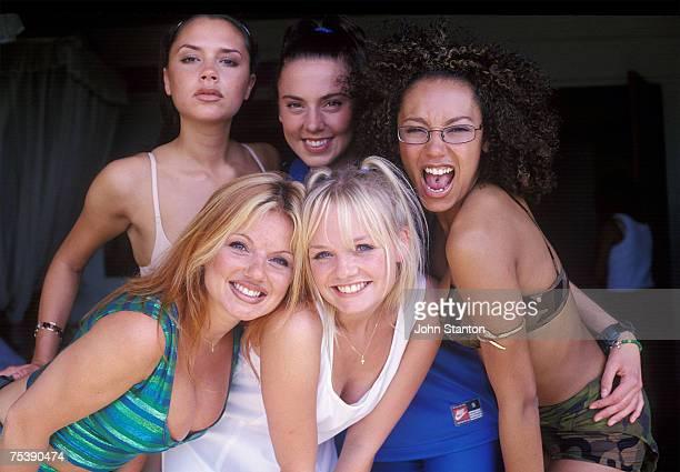 Victoria Beckham, Geri Halliwell, Melanie Brown, Emma Bunton, and Melanie Chisholm of the Spice Girls