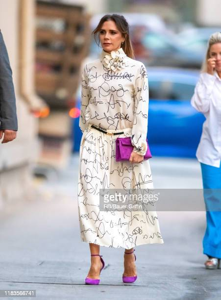 Victoria Beckham is seen at 'Jimmy Kimmel Live' on November 19 2019 in Los Angeles California