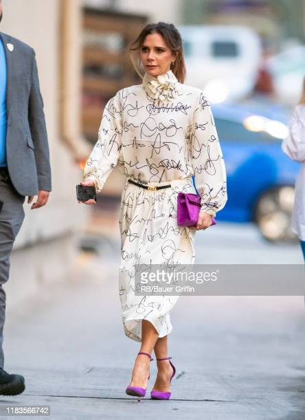 Victoria Beckham is seen at 'Jimmy Kimmel Live' on November 19, 2019 in Los Angeles, California.