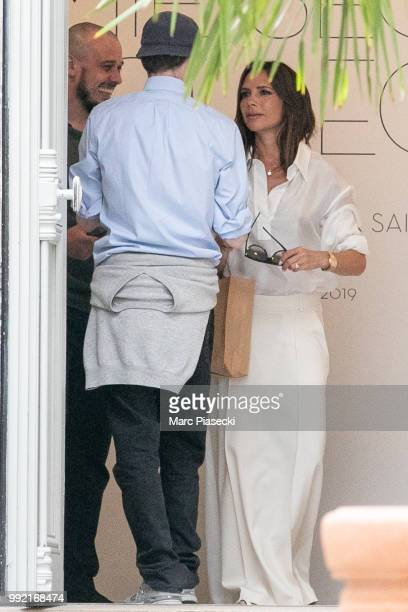 Victoria Beckham is seen at the Azzedine Alaia 'Je suis couturier' exhibition on July 5 2018 in Paris France