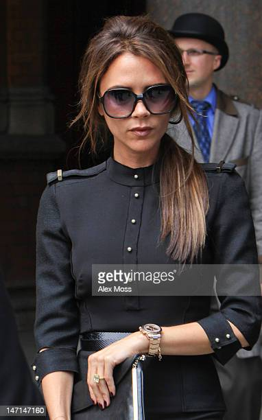Victoria Beckham is seen at the Viva Forever Press Launch on June 26 2012 in London England