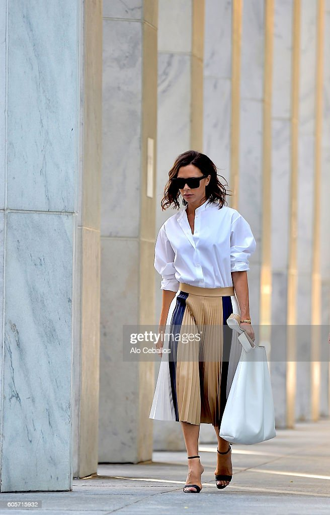 Victoria Beckham is seen in midtown on September 14, 2016 in New York City.