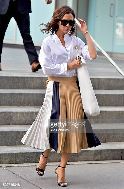 Victoria Beckham is seen in midtown on September 14, 2016 in New York City.