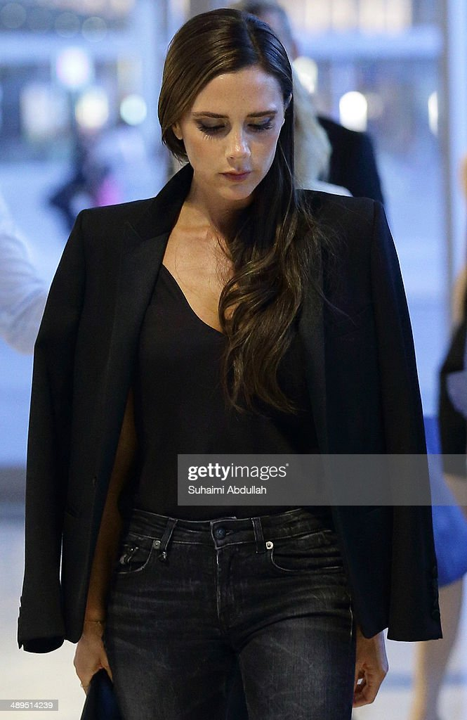 Victoria Beckham is seen in The Shoppes at the Marina Bay Sands on May 11, 2014 in Singapore. Victoria Beckham is in Singapore for the first time to showcase her ready-to-wear pieces from her eponymous fashion label in Singapore.