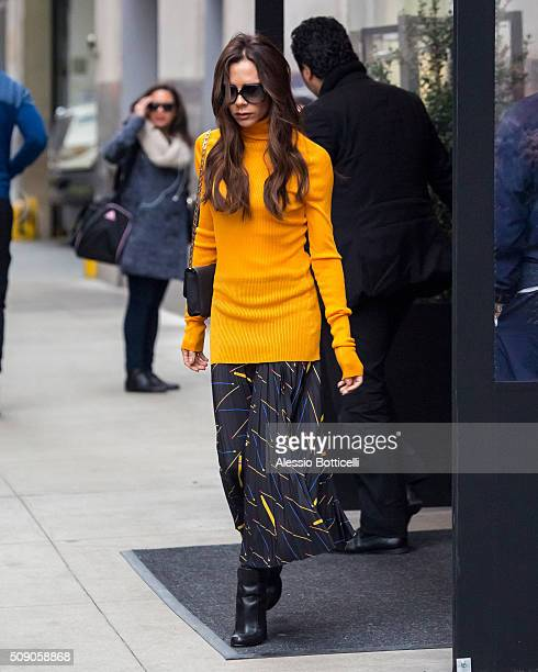 Victoria Beckham is seen leaving her Manhattan hotel on February 8 2016 in New York City