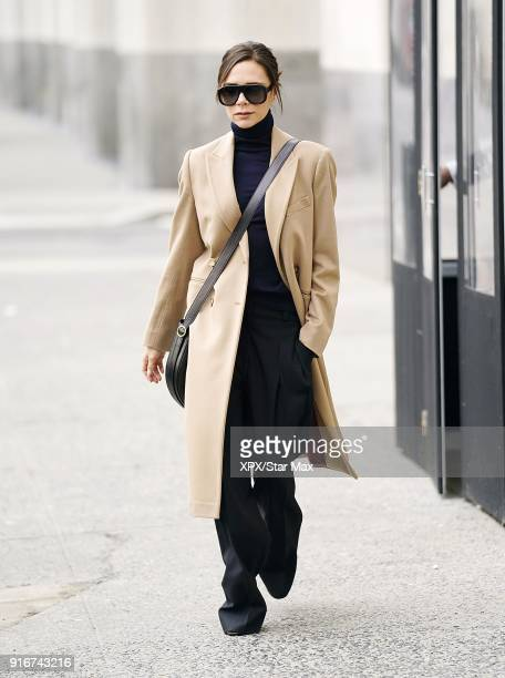 Victoria Beckham is seen on February 10 2018 in New York City