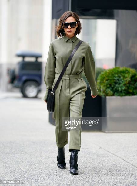 Victoria Beckham is seen on February 12 2018 in New York City