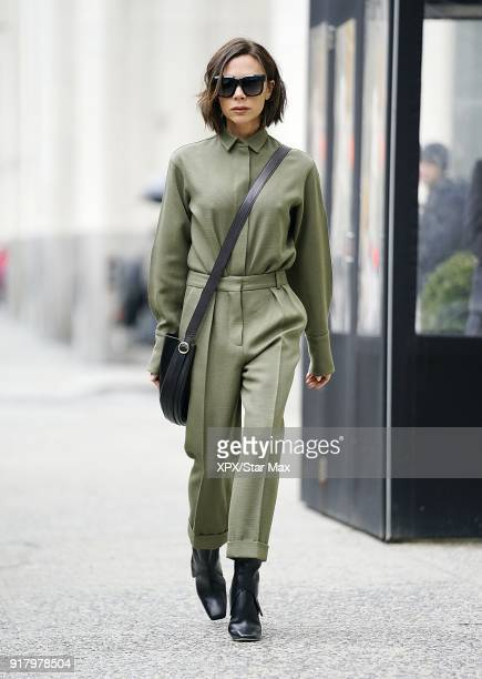 Victoria Beckham is seen on February 13 2018 in New York City
