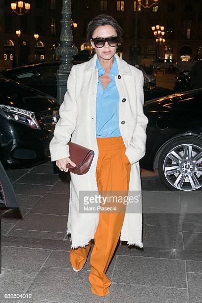 Victoria Beckham is seen on January 23 2017 in Paris France