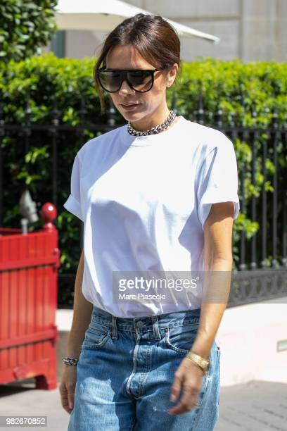 Victoria Beckham is seen on June 24, 2018 in Paris, France.