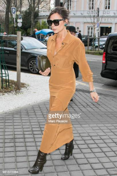 Victoria Beckham is seen on March 13 2018 in Paris France